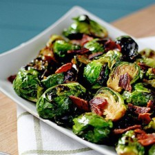 Brown Sugar Glazed Brussels Sprouts with Bacon