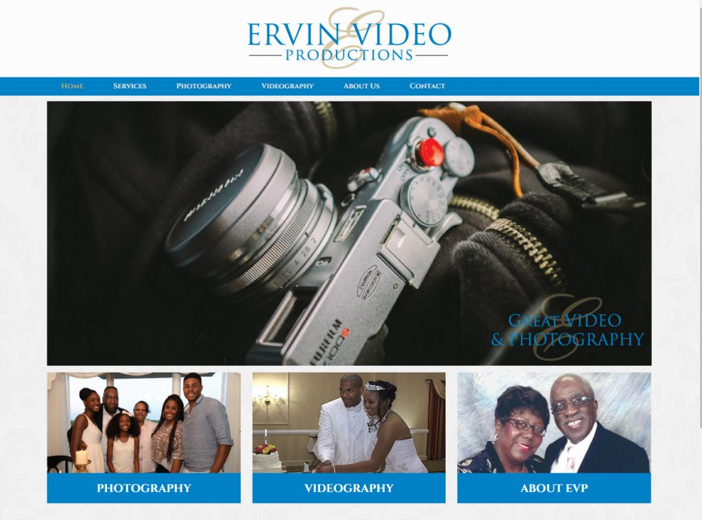 Ervin-Video-Productions-Home-Page