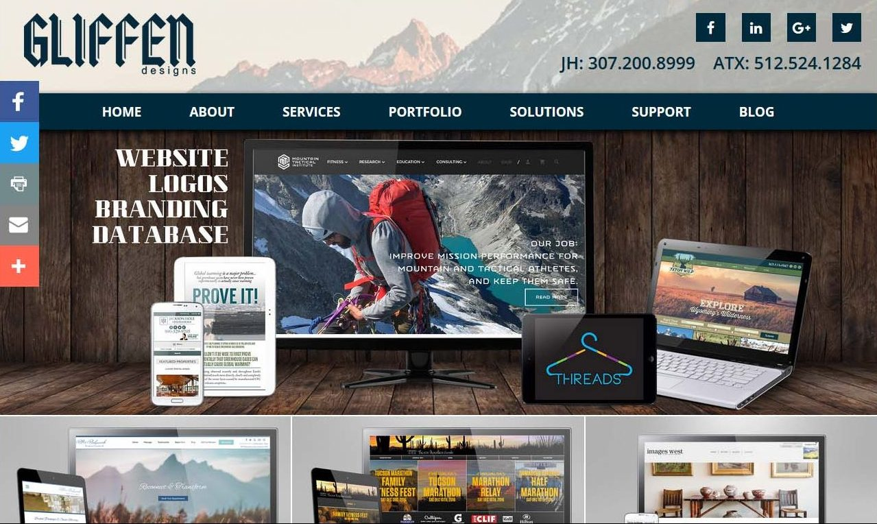 Gliffen Designs Website