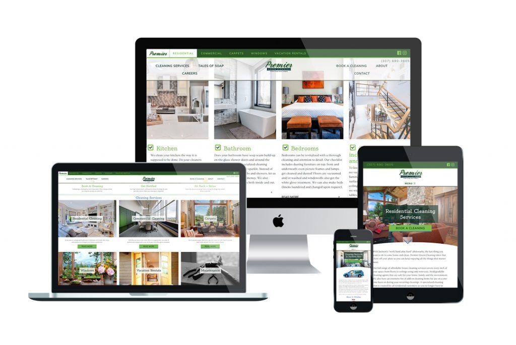 Premier Green Cleaning Website Portfolio image