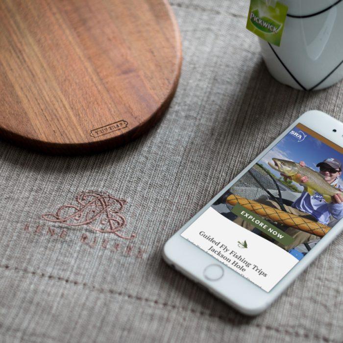 Snake River Angler portfolio image from mobile device