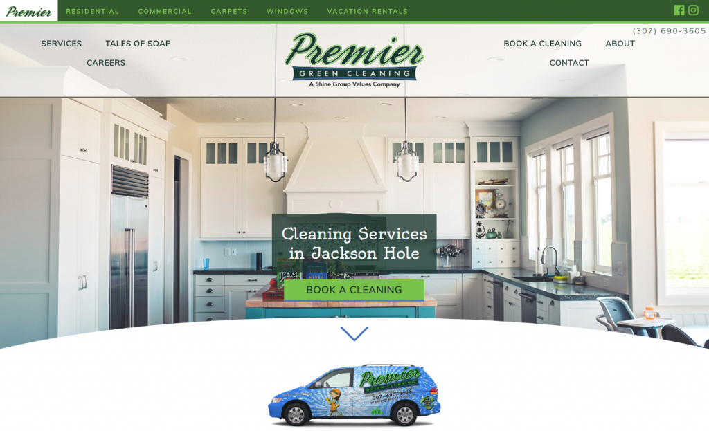 Premier Green Cleaning Website Portfolio image