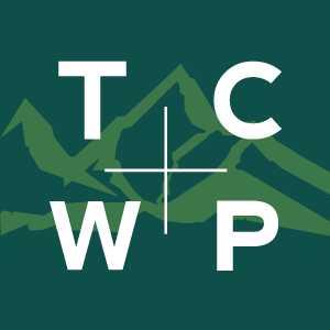 Dark green TCWP logo
